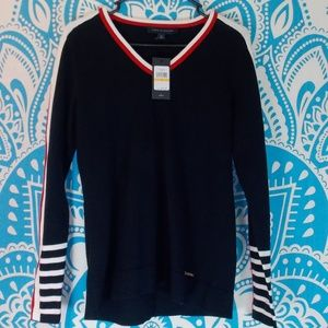 Tommy Hilfiger Racing Stripe TH Sleeve S NWT New